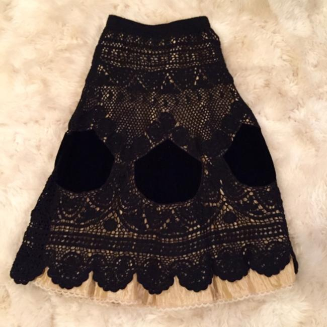 Anthropologie Skirt Black & cream