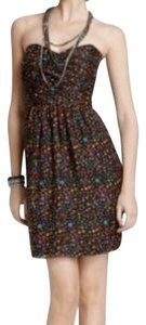 Shoshanna short dress Multi Sweetheart Strapless Colored Polka Dot on Tradesy