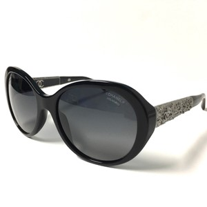 Chanel Sunglasses Black Silver Polarized Bijou Collection with CHANEL Case