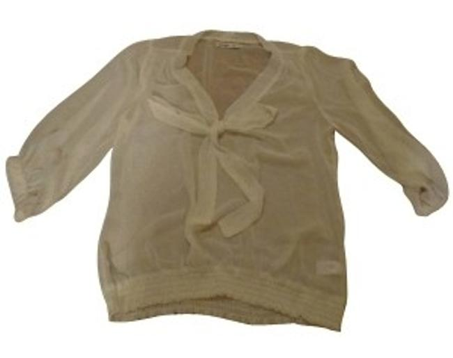 Preload https://item3.tradesy.com/images/old-navy-cream-tie-blouse-size-4-s-15972-0-0.jpg?width=400&height=650