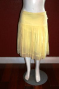 Elie Tahari Pleated Skirt YELLOW