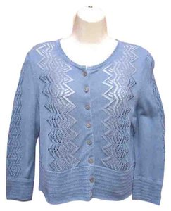 Peruvian Connection Pima Cotton Crochet Lightweight Cardigan
