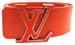 Louis Vuitton Louis Vuitton orange epi leather belt