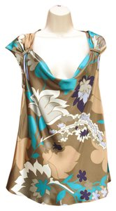 Escada Silk Floral Work Top Multi