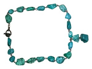 Other Very Unique turquoise Nugget Drop Necklace