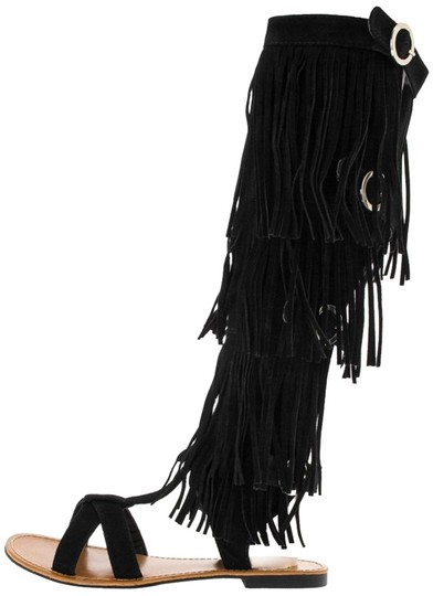 Preload https://img-static.tradesy.com/item/15972427/black-boho-chic-tribal-ethnic-gladiator-boots-fringed-gladiator-sandals-size-us-6-regular-m-b-0-1-540-540.jpg