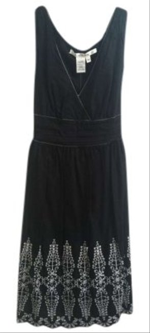 Max Studio short dress Black with white detail on Tradesy