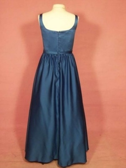 Alfred Angelo Indigo Satin 7183 Formal Bridesmaid/Mob Dress Size 14 (L)