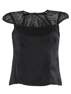 Nanette Lepore Silk Tule Top Black