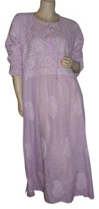 lavender, purple Maxi Dress by fashionista Bikini Cover Swimsuit Cover Up Beach Beach Cover Up Embroidered Cover Up