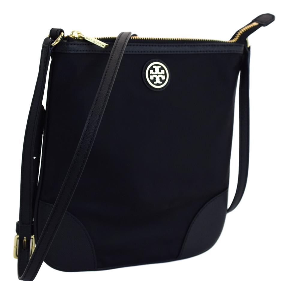 606e12f7dfff Tory Burch Dena Swingpack Black Nylon Leather Cross Body Bag - Tradesy