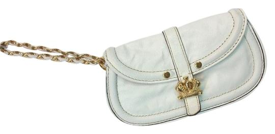 Preload https://img-static.tradesy.com/item/15973441/juicy-couture-crown-metal-accent-white-wristlet-leather-baguette-0-2-540-540.jpg