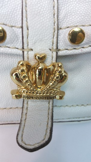 Juicy Couture White Leather Baguette