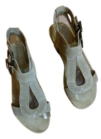 Gunmetal Suede taupe Sandals