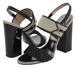 Proenza Schouler Studded Leather Black Sandals