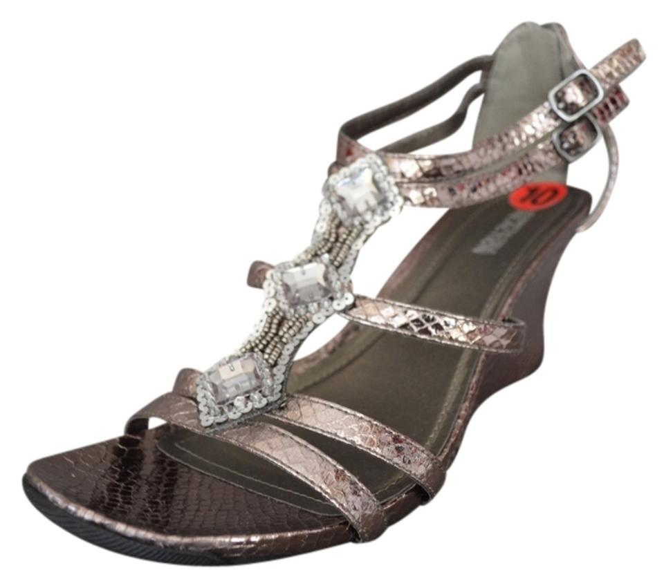 0cbaa48be2d Kenneth Cole Reaction Pewter Cedar Speeder Metallic Reptile Wedges ...