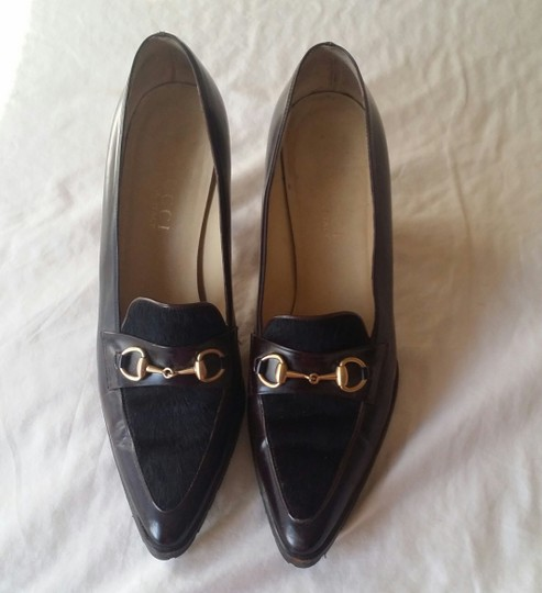 Gucci Oxford Chocolate Pumps