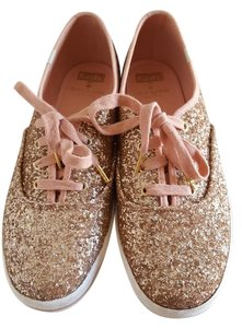 Kate Spade Glitter Keds Sneakers Rose Gold Athletic
