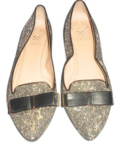 Vince Camuto silver glitters Flats