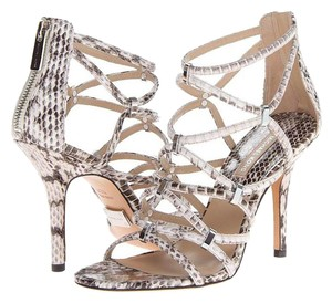 Michael Kors Snakeskin Leather Strappy Ivory Sandals