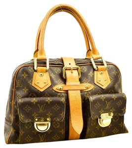 Louis Vuitton Lv Manhattan Gm Satchel in Brown