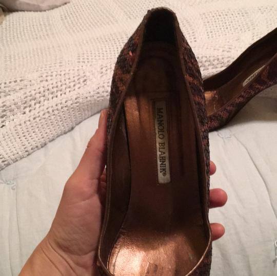 Manolo Blahnik Bronze, sequin, Formal