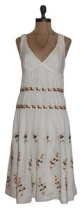 Tocca short dress IVORY Embroidered Floral on Tradesy