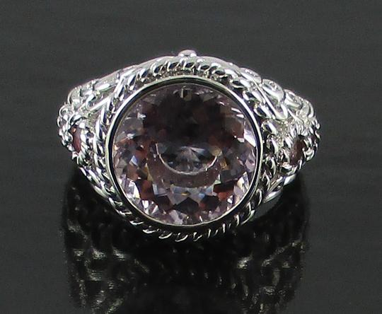 Victoria Wieck Victoria Wieck 4.47ct Portuguese-Cut Pink Amethyst and Tourmaline Sterling Silver Ring - Size 7