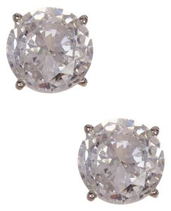 Nadri Gilded CZ Round Stud Earrings