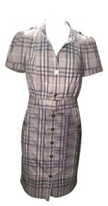 Burberry Brit short dress grey Plaid Short Sleeve on Tradesy