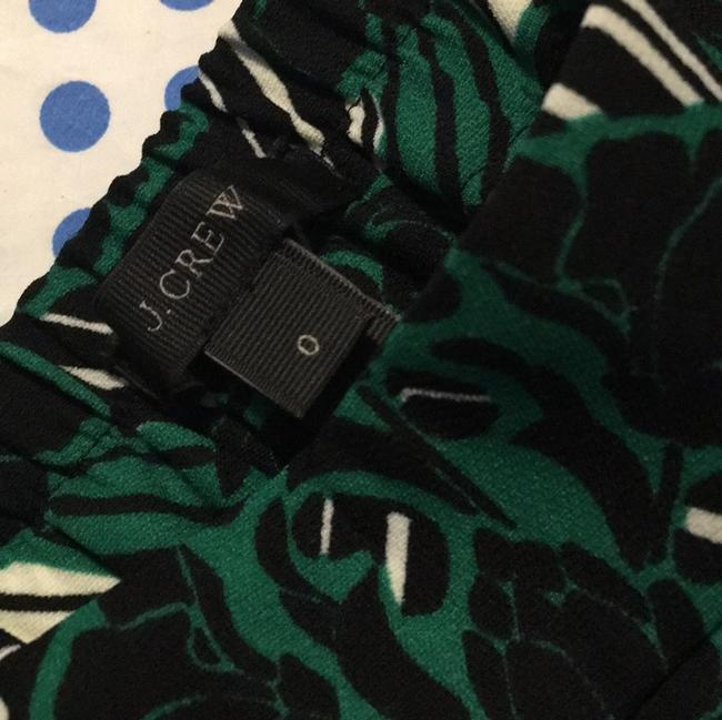J.Crew Relaxed Pants Green, black and white .