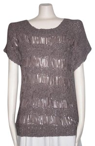 Anthropologie Trim Top GRAY