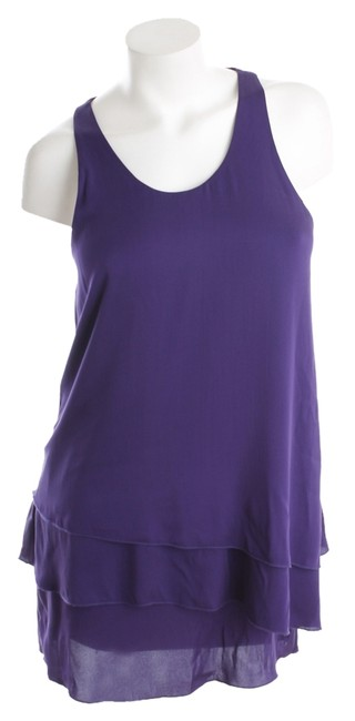 Alice + Olivia short dress Purple Size Small A-line Scoop Neck on Tradesy