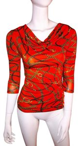 MICHAEL Michael Kors Top orange and gold
