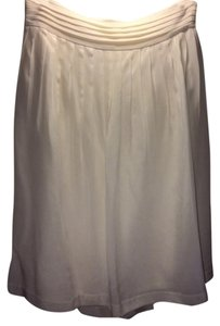 Banana Republic A-line Pleated Silk Nwot Skirt Creme