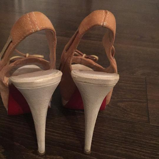 Christian Louboutin Suede Neutral Pumps