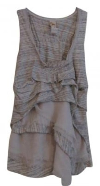 Preload https://item1.tradesy.com/images/anthropologie-grey-and-cream-layered-blouse-size-8-m-159760-0-0.jpg?width=400&height=650