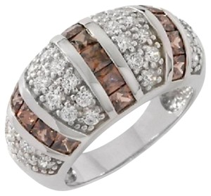 Victoria Wieck Victoria Wieck 2.24ct Absolute Chocolate and Clear Dome Ring - Size 6