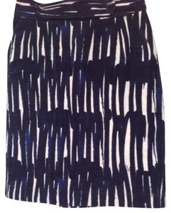 MILLY Skirt Blue, Black and White