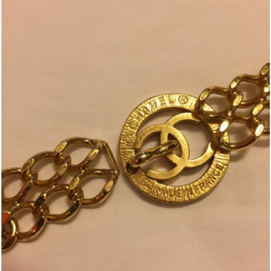 Chanel CHANEL Chain Thick Belt Coco Charm Gold-Tone