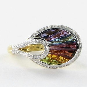 Bellarri Ring La Bouquet 0.27cts Diamond 2.70cts Gems 18k Yg