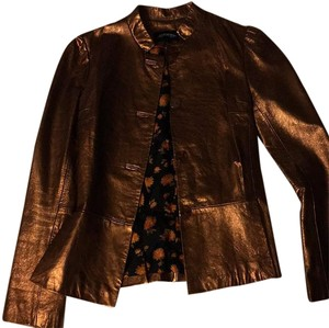 Till the End Bronze Leather Jacket