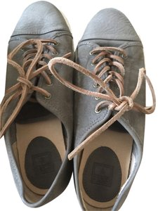 Frye Leather Sneakers Designer Taupe Brown Flats