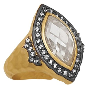 14 Karat Gold Plated Sterling Silver Marquise CZ Ring (available sizes 5-9)