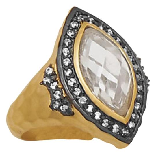 Preload https://item4.tradesy.com/images/gold-black-new-14-karat-plated-sterling-silver-marquise-cz-ring-15976978-0-1.jpg?width=440&height=440