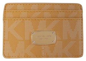 Michael Kors Michael Kors Jet Set Signature PVC Card Case Wallet NWOT Yellow