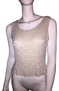 Adrianna Papell Top white beaded