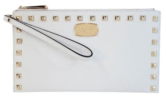 Preload https://item4.tradesy.com/images/michael-kors-saffiano-gold-studded-purse-optic-white-leather-clutch-15977203-0-1.jpg?width=440&height=440