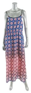 Blue Pink White Maxi Dress by Vince Camuto Boho Beachy