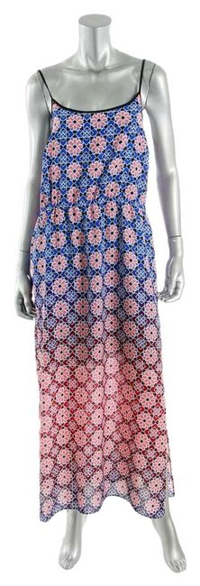 Item - Blue Pink White L Summertime Sun Long Casual Maxi Dress Size 14 (L)